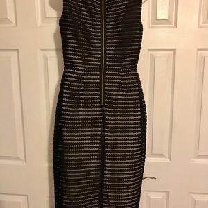 Black eyelet lace dress